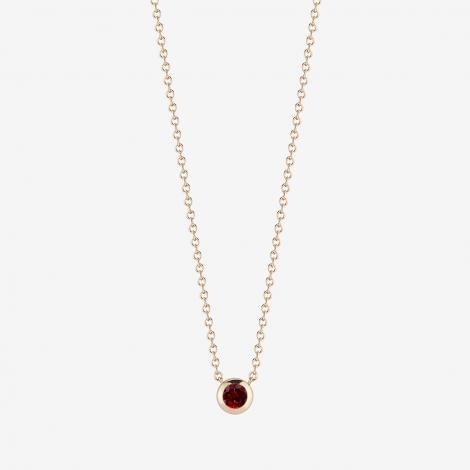 Kyle Cavan 14k Gold Garnet Necklace