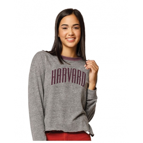 Women's Harvard Intramural Long Sleeve Crop