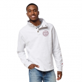 Harvard League Seal 1/4 Snap Brushed Fleece Pullover