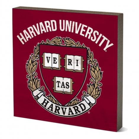 Harvard Vintage Wood Table Top Sign