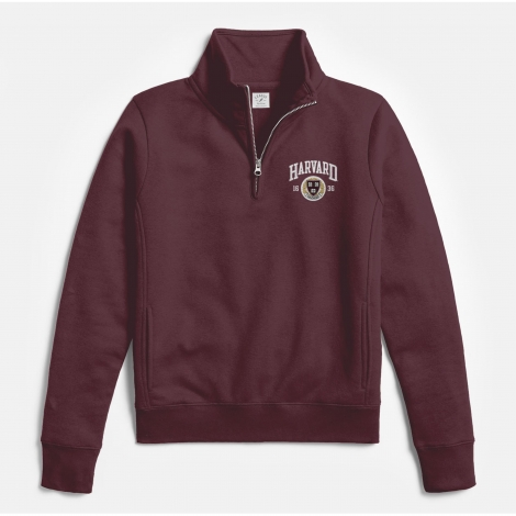 Harvard League Women's Embroidered Seal Academy 1/4 Zip