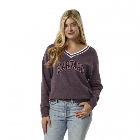 Women's Harvard Victory Springs V-neck Fleece Pullover