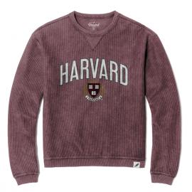 Harvard League Corded Timber Crew Neck Sweater