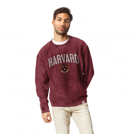 Harvard League Corded Timber Crew Neck Sweater