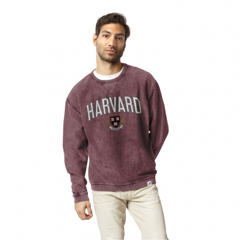 Harvard League Arched Seal Corded Timber Crew