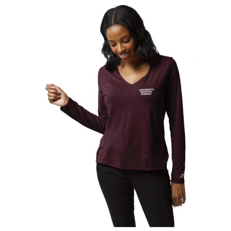 MIT Women's Long Sleeve Re-Spin Tee