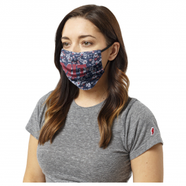 MIT Floral Print Face Mask with Block MIT Logo