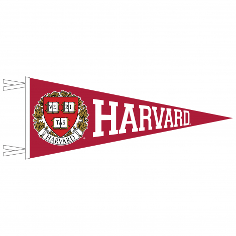 Harvard Varsity Full Color Seal 12 x 30 Pennant