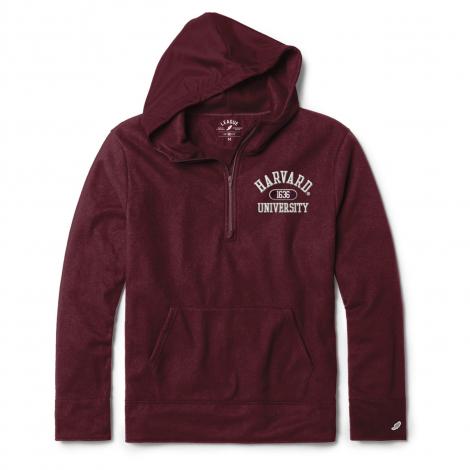 Harvard League Archive 1/4 Zip Hooded Fleece