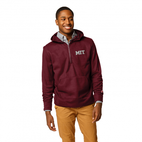 MIT League Archive 1/4 Zip Hooded Fleece