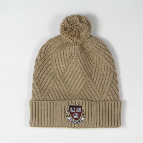 Harvard Women's Bridger Textured Cuff Pom Knit