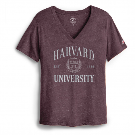Harvard League Women's Intramural V-Neck Boyfriend Tee Shirt