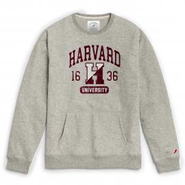 Harvard League 1636 Pocket Crew Neck Sweatshirt