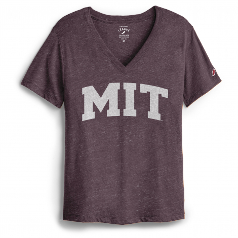 MIT League Women's Intramural V-Neck Boyfriend Tee Shirt