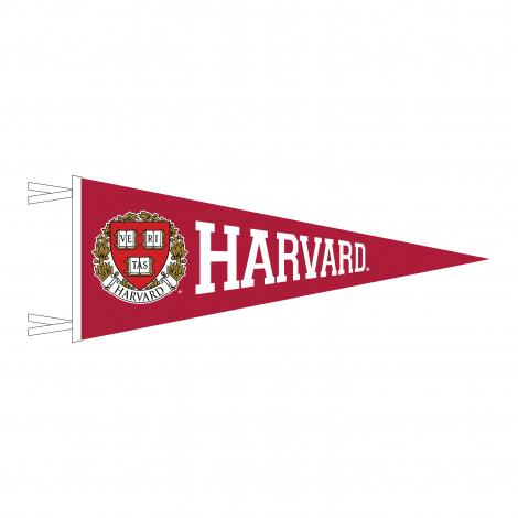 Harvard Varsity Full Color Seal 6 x 15 Pennant
