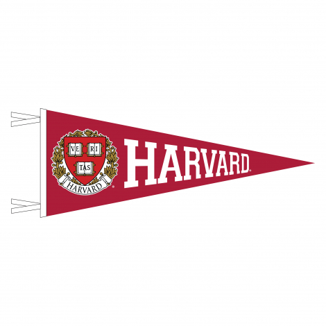 Harvard Varsity Full Color Seal 9 x 24 Pennant