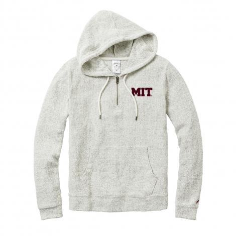 MIT League Women's 1/4 Zip French Terry Hooded Fleece