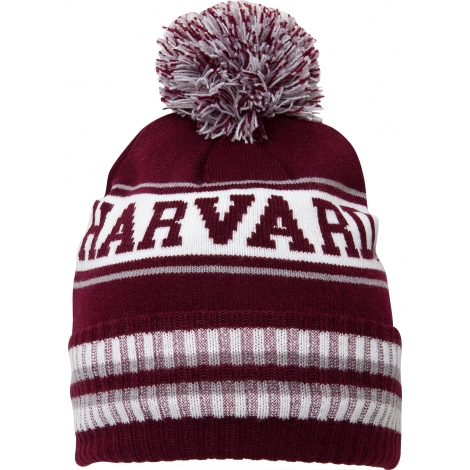 Harvard Fleece Lined Knit With Pom