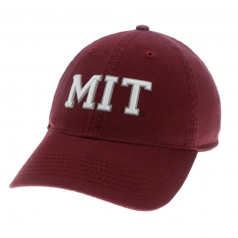 MIT Block Logo Washed Twill Hat