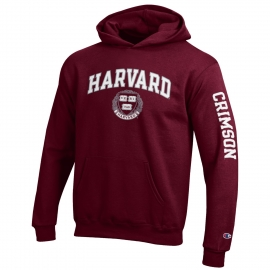 Harvard w/ Seal Maroon Youth Hooded Sweatshirt