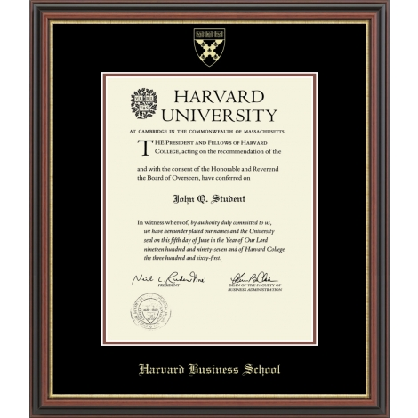 Harvard Gold Embossed Diploma Frame in Gallery and Regency Gold
