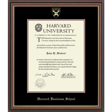 Harvard Gold Embossed Diploma Frame in Gallery and Regency Gold