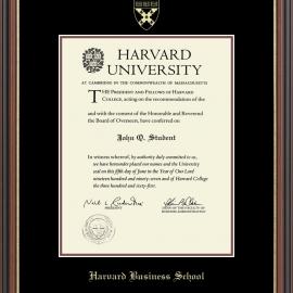 Harvard Embossed Undergrad or Grad Diploma Frame