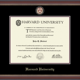 Masterpiece Edition Harvard Undergrad or Grad  Diploma Frame