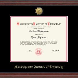 MIT 23K Bright Gold Medallion Diploma Frame