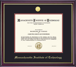 MIT Medallion Diploma Frame - (Also available in MIT Coop)