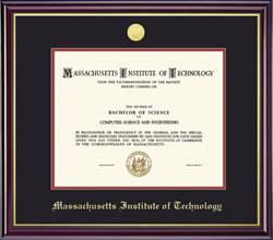 MIT Medallion Diploma Frame