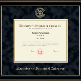 MIT Gold Embossed Diploma Frame in Onyx Gold