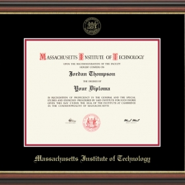 MIT Embossed  Diploma Frame