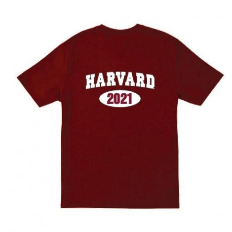Harvard Class of 2021 Maroon T Shirt
