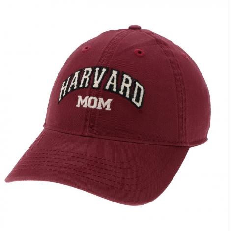 Harvard Mom Burgundy Unstructured Hat