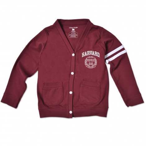 Harvard Maroon Toddler Varsity Cardigan Sweater
