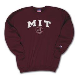 Maroon M I T Crew Sweatshirt
