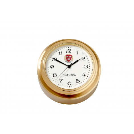 Harvard Chelsea Button Clock with Waterfall Bezel