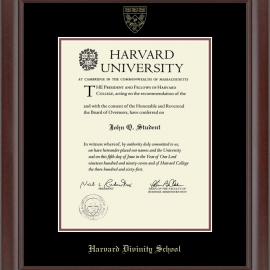 Recycled Wood Harvard Undergrad or Grad Diploma Frame