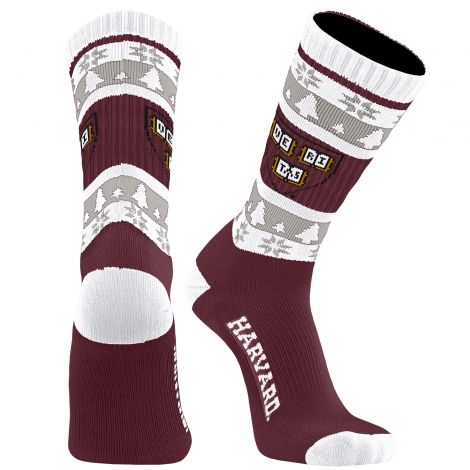 Harvard Christmas Socks