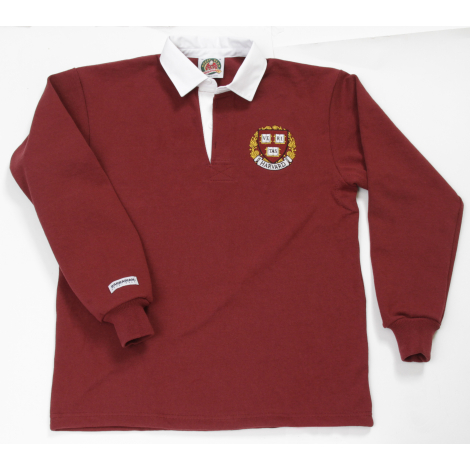 Harvard Barbarian Authentic Solid Rugby Shirt