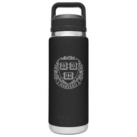 Harvard YETI Rambler 26 oz Water Bottle with Chug Cap