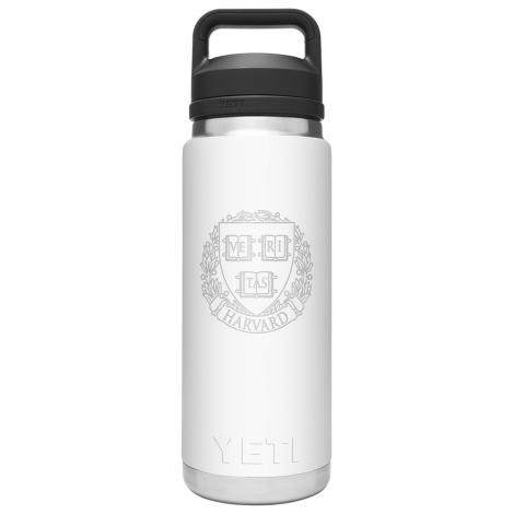 Harvard YETI Rambler 18 oz Water Bottle with Chug Cap