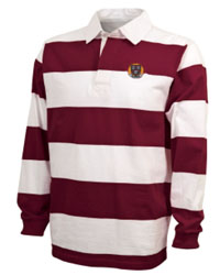 Classic Harvard Maroon and White Rugby Shirt