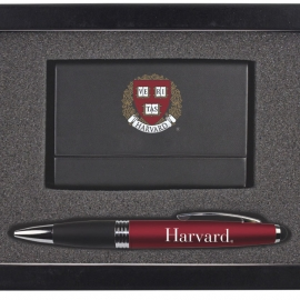 Harvard Business Card Case & Pen Set