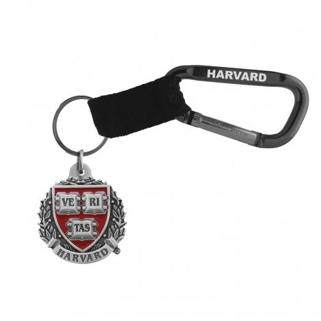 Harvard Seal Carabiner Key Chain