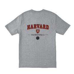 Youth Harvard Grey Basketball T Shirt