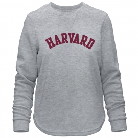 Harvard Women's Felt Applique Comfy Crew Neck Sweater