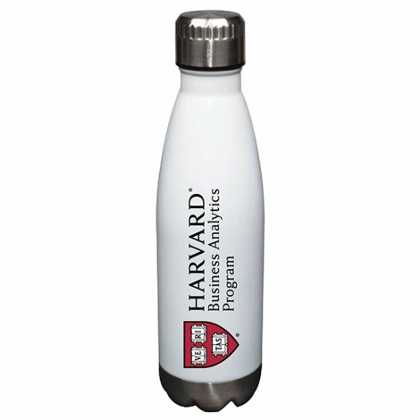 Harvard Business Analytics Program Glacier Water Bottle