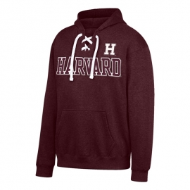 Harvard Laced Maroon Hockey Hood